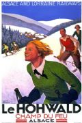 Vintage Travel Poster Le Hohwald France
